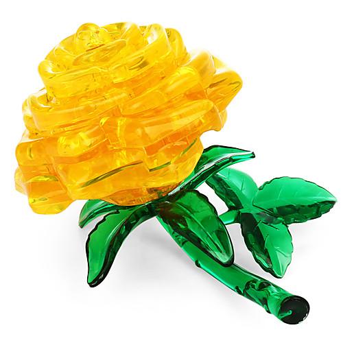 3D пазлы / Хрустальные пазлы Цветы Товары для офиса Acryic / полиэстер 44pcs Взрослые / Средний уровень Все Подарок