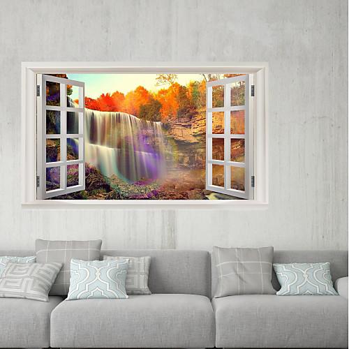 Декоративные наклейки на стены / Наклейки на холодильник - 3D наклейки Пейзаж / 3D Гостиная / Кабинет / Офис