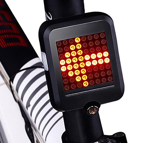 Задняя подсветка на велосипед / огни безопасности / задние фонари Светодиодная лампа Велоспорт Водонепроницаемый, Портативные, Складной Литий-ионная 200 lm Красный Велосипедный спорт