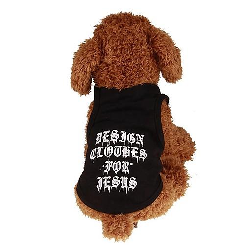 Собаки / Коты / Животные Футболка / Жакет / Жилет Одежда для собак Простой / Буквы и цифры / Классика Черный Плюшевая ткань / Хлопок комбинезон дождевик для собак dezzie такса большая