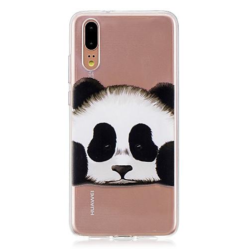 Case For Huawei Huawei P20 / Huawei P20 Pro / Huawei P20 lite Translucent Back Cover Panda Soft TPU / P10 Plus / P10 Lite / P10