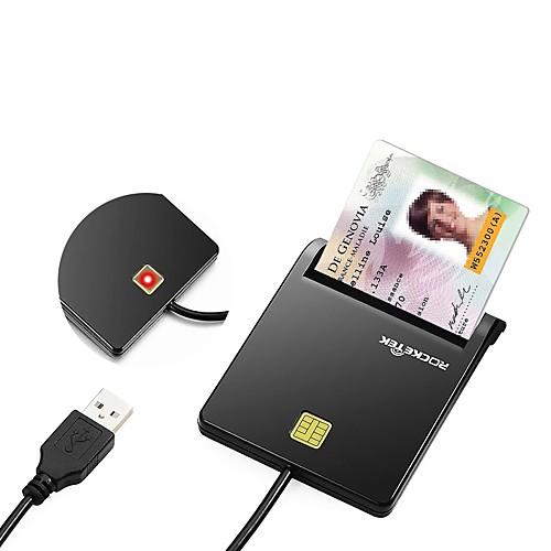 Rocketek SIM-карта USB 2.0 Устройство чтения карт памяти ПК и ноутбуки Кредитная карта все цены