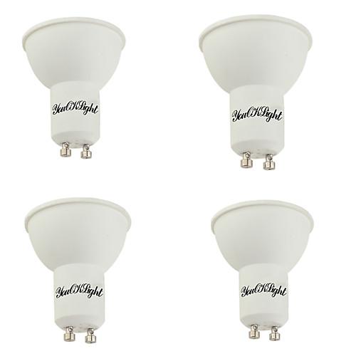 YouOKLight 4шт 400lm GU10 Точечное LED освещение MR16 10 Светодиодные бусины SMD 5730 Декоративная Тёплый белый 85-265V цена