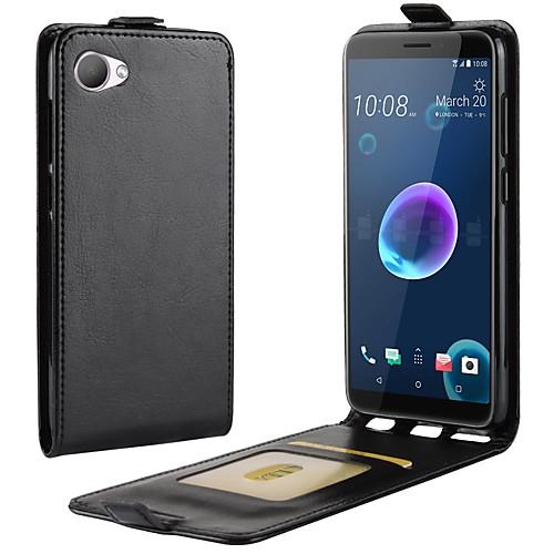 Кейс для Назначение HTC U11 Life / HTC Desire 12 Бумажник для карт / Флип Чехол Однотонный Твердый Кожа PU для HTC U11 plus / HTC U11 сотовый телефон htc u11 plus 64gb ceramic black