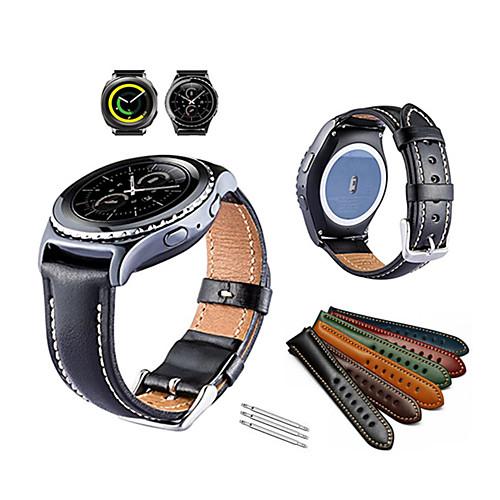 Ремешок для часов для Gear Sport / Gear S2 Classic Samsung Galaxy Спортивный ремешок Натуральная кожа Повязка на запястье фото