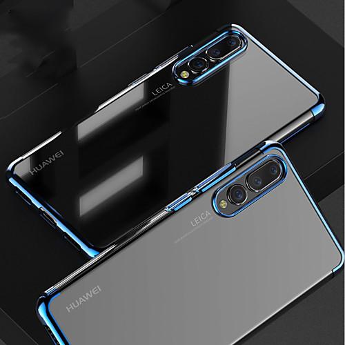 Кейс для Назначение Huawei MediaPad P20 / P20 Pro Покрытие / Прозрачный Кейс на заднюю панель Однотонный Мягкий ТПУ для Huawei P20 / Huawei P20 Pro / Huawei P20 lite кейс для назначение huawei p20 pro p20 lite защита от удара прозрачный кейс на заднюю панель однотонный мягкий тпу для huawei p20 huawei p20 pro huawei p20 lite