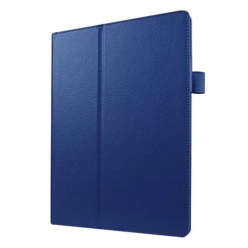 Кейс для Назначение Lenovo Lenovo Tab 3 10 business (TB3-X70F / N) со стендом / Ультратонкий Чехол Однотонный Твердый Кожа PU для Lenovo Tab 3 10 business (TB3-X70F / N) pu leather cover stand case for lenovo tab3 tab 3 7 730 730f 730m 730x tb3 730f tb3 730m 7 0 tablet 2pcs screen protector