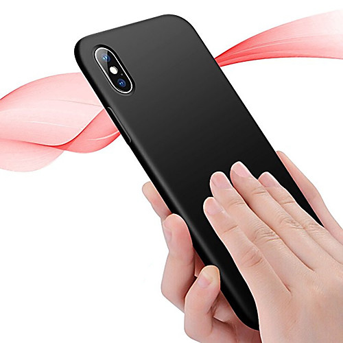 Case For Apple iPhone X / iPhone 8 Plus / iPhone 8 Ultra-thin Back Cover Solid Colored Soft TPU