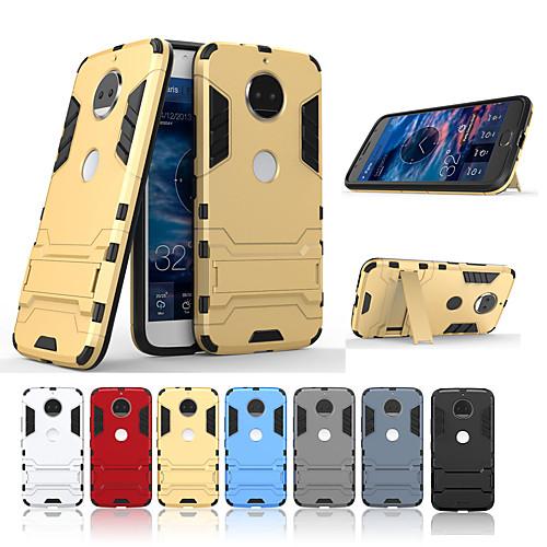 Кейс для Назначение Motorola G5 Plus / G5 со стендом Кейс на заднюю панель Однотонный Твердый ПК для Moto G5s Plus / Moto G5s / Мото G5 Plus