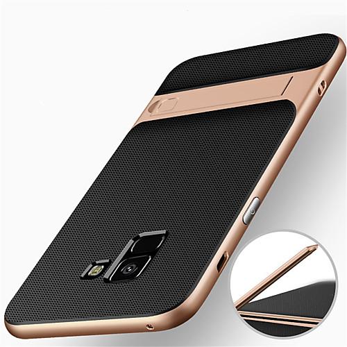 Кейс для Назначение SSamsung Galaxy A8 Plus 2018 / A8 2018 Защита от удара / со стендом Кейс на заднюю панель броня Твердый ПК для A8 2018 / A8 2018 blackview a8 смартфон