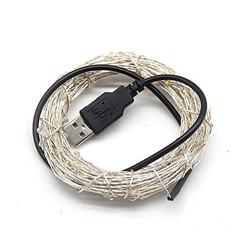 5 метров Гирлянды 50 светодиоды Тёплый белый / Холодный белый / RGB USB / Декоративная Работает от USB 1шт цена