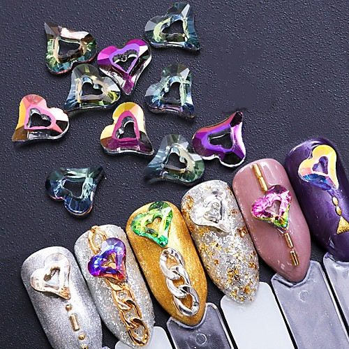 10 pcs Украшения для ногтей / Наборы и наборы для ногтей Стиль Модный дизайн / Творчество На каждый день Инструмент для ногтей / Советы для ногтей