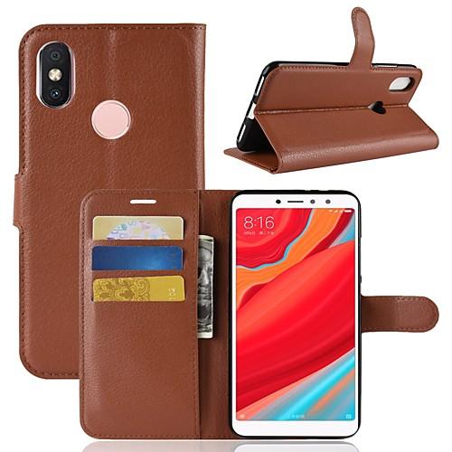 Кейс для Назначение Xiaomi Redmi S2 / Mi 8 Кошелек / Бумажник для карт / Флип Чехол Однотонный Твердый Кожа PU для Redmi Note 5A / Xiaomi Redmi Note 5 Pro / Xiaomi Redmi Примечание 5 xiaomi