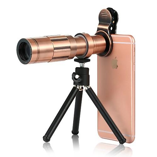 Объектив для мобильного телефона Широкоугольный объектив Алюминиевый сплав 20X Макро 3 m 70 ° Линза / объектив со стендом объектив
