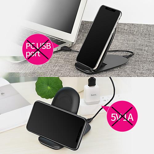 где купить Беспроводное зарядное устройство Зарядное устройство USB USB Беспроводное зарядное устройство 1 USB порт 1 A / 1.5 A DC 9V / DC 5V для дешево