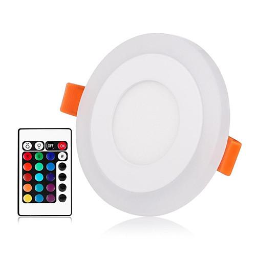 ZDM 1 комплект 3 W 30 светодиоды Новый дизайн / Пульт управления / Диммируемая Осветительная панель / LED даунлайт RGB теплый / RGB zdm ™ 6w 480lm круглый даунлайт панель монтажное отверстие 105мм 100 240в вход