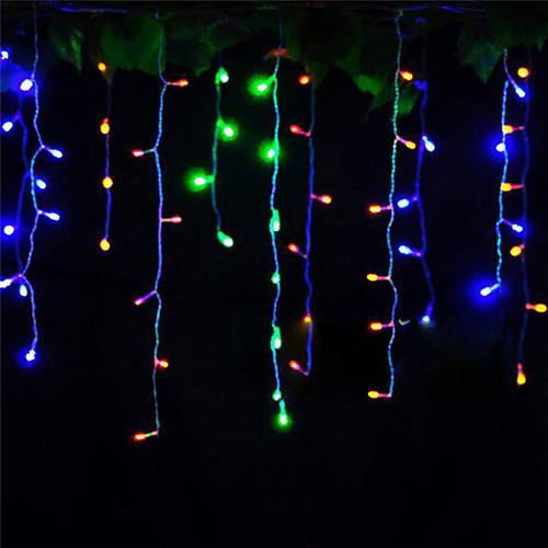 4м Гирлянды 96 светодиоды ДИП светодиоды Тёплый белый / Холодный белый / Красный Декоративная / Компонуемый 220-240 V 1шт цена
