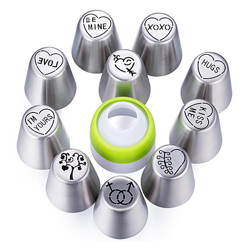 Инструменты для выпечки Нержавеющая сталь Новое поступление / 3D / Своими руками Повседневное использование / Необычные гаджеты для кухни Десертные инструменты 11pcs