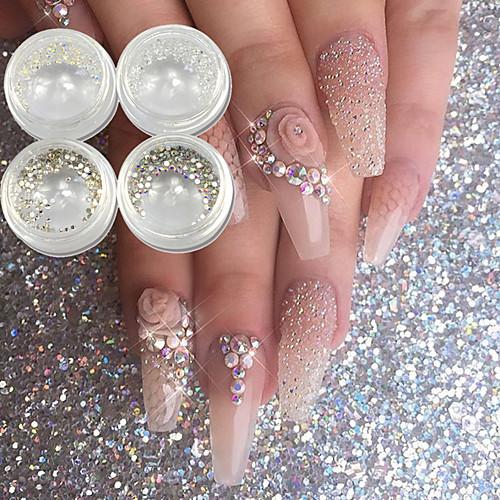 где купить 4 pcs Гель для ногтей металлический Светящийся Свадьба / Вечерние / На каждый день Дизайн ногтей по лучшей цене