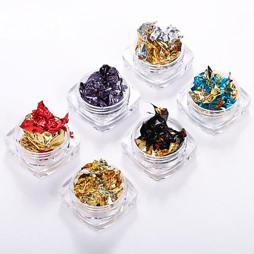 6 pcs Украшения для ногтей Цветной / Гель для ногтей Формы для ногтей Модный дизайн / Цветной На каждый день