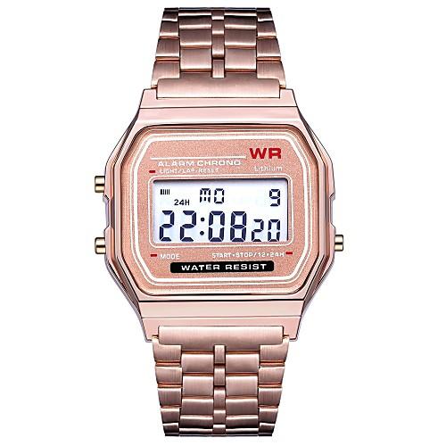 Муж. Спортивные часы Наручные часы электронные часы Цифровой Черный / Серебристый металл / Золотистый Календарь Секундомер Новый дизайн Цифровой На каждый день Кольцеобразный - / Один год / ЖК экран фото