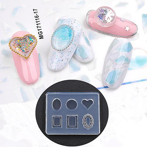 1 pcs Украшения для ногтей / Инструмент для штамповки ногтей шаблон Простой стиль Инструмент для ногтей / Дизайн ногтей Модный дизайн На каждый день
