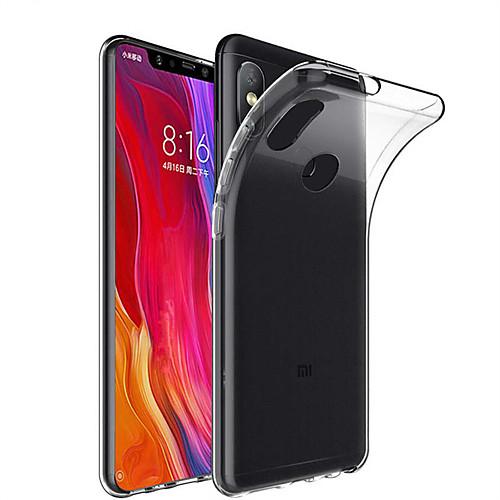 Кейс для Назначение Xiaomi Mi 8 / Mi 8 SE Прозрачный Кейс на заднюю панель Однотонный Мягкий ТПУ для Xiaomi Mi Mix 2 / Xiaomi Mi Mix 2S / Xiaomi Mi Mix xiaomi