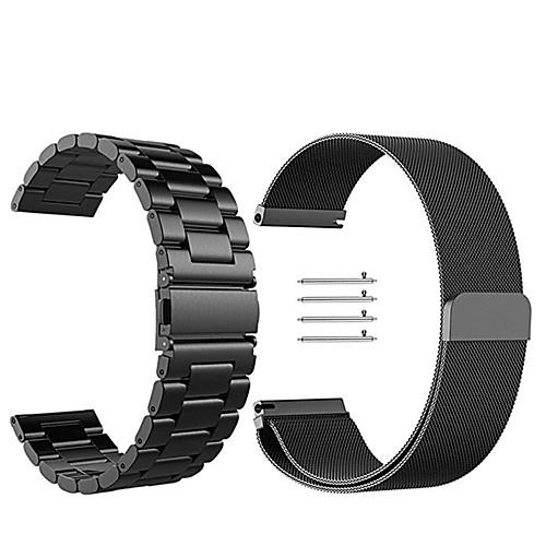 Ремешок для часов для Gear Sport / Gear S2 Classic Samsung Galaxy Миланский ремешок Нержавеющая сталь Повязка на запястье стоимость