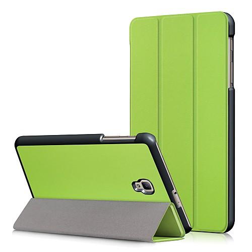 Кейс для Назначение SSamsung Galaxy Tab A 80 2017 со стендом  Флип Чехол Однотонный Твердый Кожа PU для Tab A 80 2017