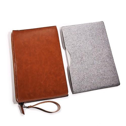 Рукава Сплошной цвет Кожа PU для Новый MacBook Pro 15 / Новый MacBook Pro 13 / MacBook Pro, 15 дюймов soyan pu laptop sleeve envelope bag for macbook air pro retina 11 12 13 15