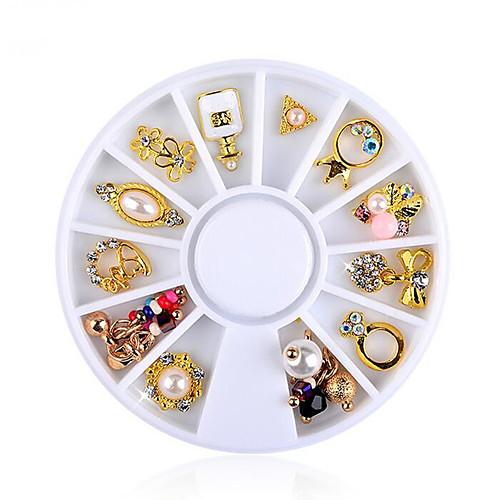 12 pcs Украшения для ногтей Хрусталь / Стиль Модный дизайн На каждый день Инструмент для ногтей / Советы для ногтей