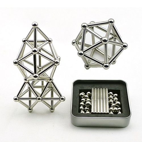 63 pcs Магнитные игрушки Магнитные шарики / Магнитные игрушки / Сильные магниты из редкоземельных металлов металлический / Магнитный