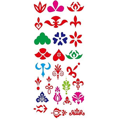 1 pcs С рисунком Тату с цветами / Прочее Временные тату тату рукава tattoo sleeve тату рукав