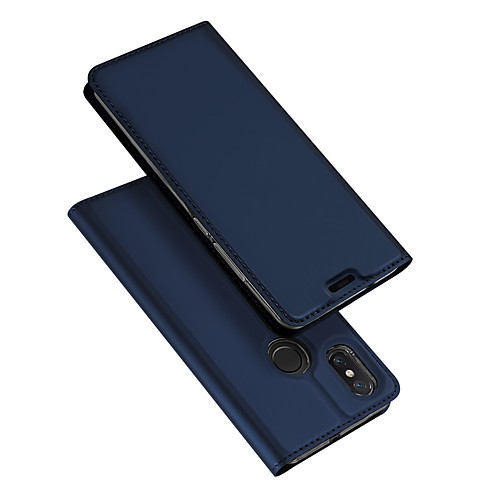 Кейс для Назначение Xiaomi Mi 8 / Mi 8 SE Флип / Ультратонкий Чехол Однотонный Твердый Кожа PU для Xiaomi Mi Mix 2 / Xiaomi Mi Mix 2S / Xiaomi Mi Mix luanke pu leather tpu flip cover for xiaomi mi mix 2s