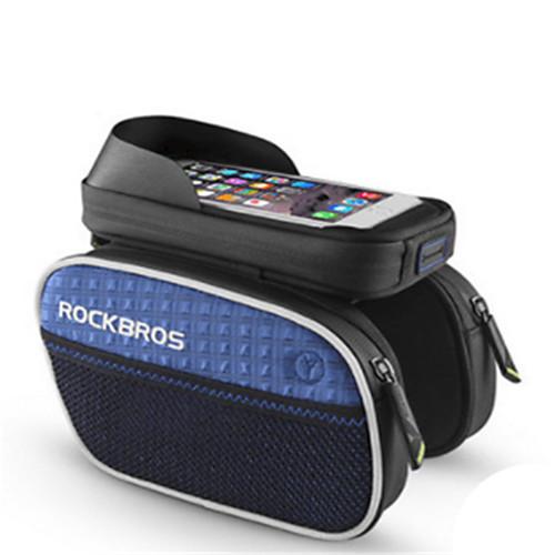 ROCKBROS Сотовый телефон сумка / Бардачок на раму 6 дюймовый Водонепроницаемость Велоспорт для iPhone 8 Plus / 7 Plus / 6S Plus / 6 Plus Зеленый