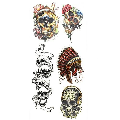 1 pcs С рисунком Тату с тотемом / Прочее Временные тату тату рукава tattoo sleeve тату рукав