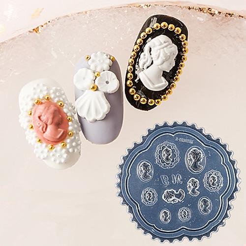 1 pcs Инструмент для штамповки ногтей шаблон Ретро / Элегантный стиль Дизайн ногтей Модный дизайн На каждый день