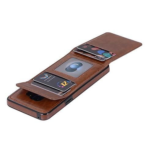 Кейс для Назначение SSamsung Galaxy S9 Plus  S9 Кошелек  Бумажник для карт  Флип Чехол Однотонный Твердый Кожа PU для S9  S9 Plus  S8 Plus
