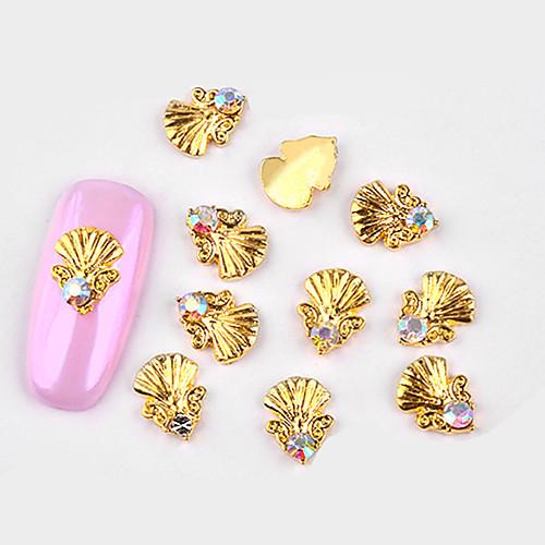 10 pcs металлический / Инкрустация камнями и кристаллами Украшения для ногтей Модный дизайн Дизайн ногтей
