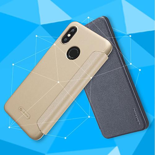 Кейс для Назначение Xiaomi Mi 8 / Mi 8 SE Флип / Матовое Чехол Однотонный Твердый Кожа PU для Xiaomi Redmi S2 / Xiaomi Mi Mix 2S / Xiaomi Mi 8 цена