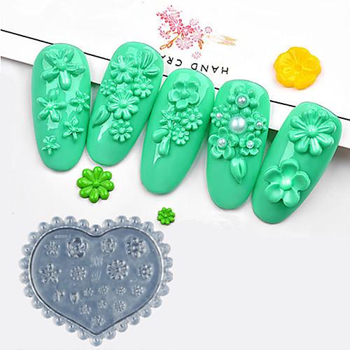 1 pcs Инструмент для штамповки ногтей шаблон С цветами / Профессиональный Инструмент для ногтей Модный дизайн На каждый день