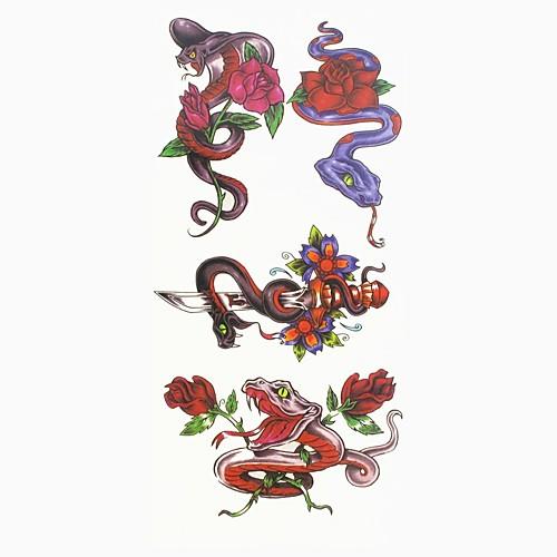 1 pcs С рисунком Тату с животными / Тату с цветами Временные тату тату рукава tattoo sleeve тату рукав