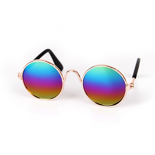 Собаки / Коты / Маленькие зверьки Солнечные очки Одежда для собак Пайетки Синий / Розовый / Радужный Смешанные материалы Костюм Для домашних животных Спорт и отдых / Животные комбинезон дождевик для собак dezzie такса большая