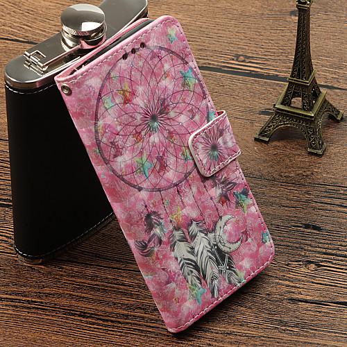 Кейс для Назначение Huawei P20 Pro / P20 lite Бумажник для карт / со стендом / Флип Чехол Ловец снов Твердый Кожа PU для Huawei P20 / Huawei P20 Pro / Huawei P20 lite кейс для назначение huawei p20 pro p20 lite кошелек бумажник для карт со стендом чехол бабочка твердый кожа pu для huawei p20 huawei p20 pro huawei p20 lite