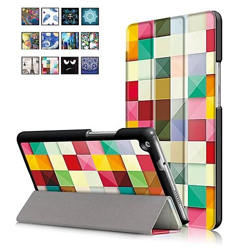 Кейс для Назначение Huawei MediaPad M3 Lite 8(CPN-W09, CPN-AL00 со стендом / Магнитный Чехол Масляный рисунок Твердый Кожа PU для Huawei MediaPad M3 Lite 8(CPN-W09, CPN-AL00 folio stand pu leather cover case for 2017 10 1 huawei mediapad m3 lite 10 bah w09 bah al00 10 tablet free gift