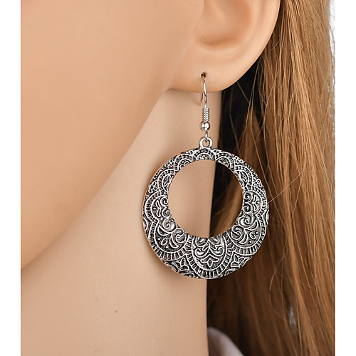 Women's Drop Earrings Sculpture Ladies Asian Trendy Boho Earrings Jewelry Silver / Golden For Party / Evening Holiday 1 Pair