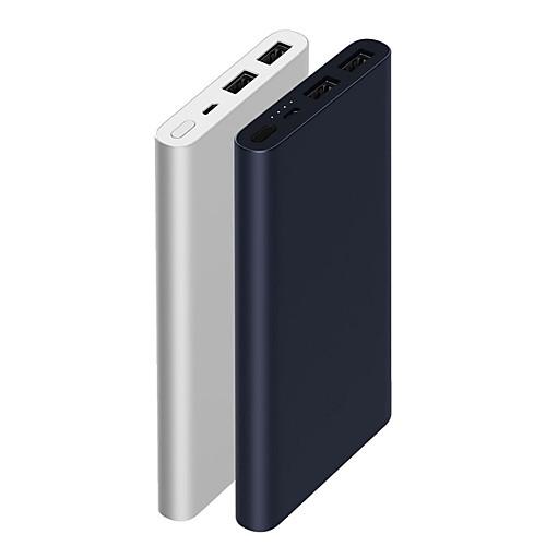 Xiaomi Original New 10000mAh Внешний аккумулятор Портативные / Прочный / С быстрой зарядкой 3.0 Серебряный / #
