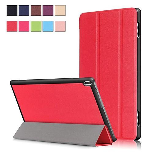 Кейс для Назначение Lenovo Tab 4 10 Plus / Tab 4 10 со стендом / Магнитный Чехол Однотонный Твердый Кожа PU для Lenovo Tab 4 10 Plus / Lenovo Tab 4 10