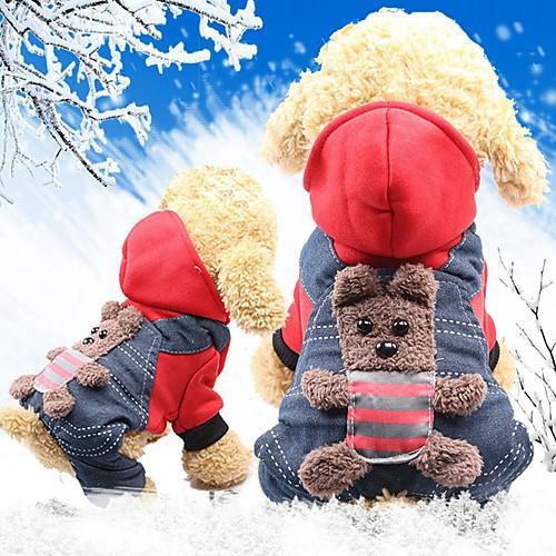 Грызуны / Собаки / Коты Плащи Одежда для собак Животное / Персонажи Желтый / Красный Хлопок Костюм Для домашних животных Мужской Спорт и отдых / Теплые головные уборы комбинезон дождевик для собак dezzie такса большая