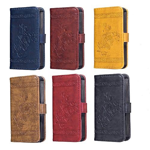 Кейс для Назначение SSamsung Galaxy S7 edge / S7 Кошелек / Бумажник для карт / со стендом Чехол Цветы Твердый ТПУ для S7 edge / S7 / S6 edge фото